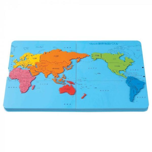 直送品 代引き不可 KUMON くもん  くもんの世界地図パズル PN-21 5歳以上 ご注文後3〜4営業日後の出荷となります