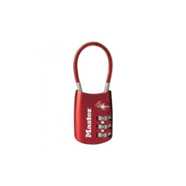 直送品 代引き不可 ナンバー可変式TSAロック ワイヤータイプ 4688JADRED ご注文後3〜4営業日後の出荷となります