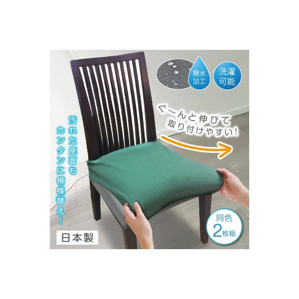 撥水ストレッチダイニングチェアカバー 同色2枚組 椅子カバー イスカバー チェアカバー 撥水 椅子 イス カバー おしゃれ 丸洗い
