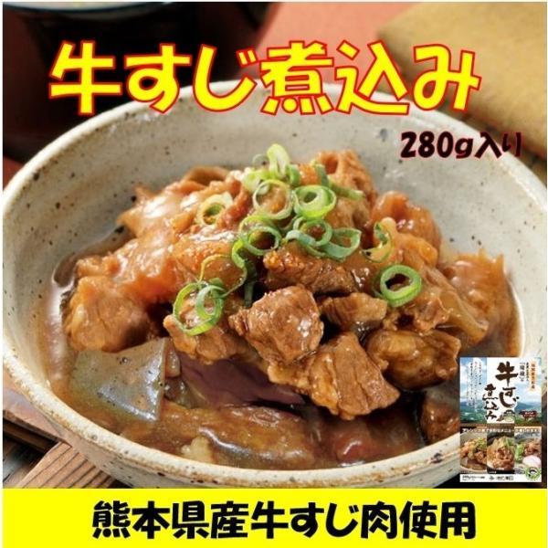牛すじ煮込み 280g入り 熊本県産の牛すじ肉使用 国産 メール便 送料無料 ポイント消化