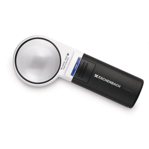 エッシェンバッハ mobiluxLED+mobase LEDワイドライトルーペ&専用スタンド 60mmΦ(6倍) 1511-6M 老眼 ledライト付き 読書 拡大鏡 スタンド