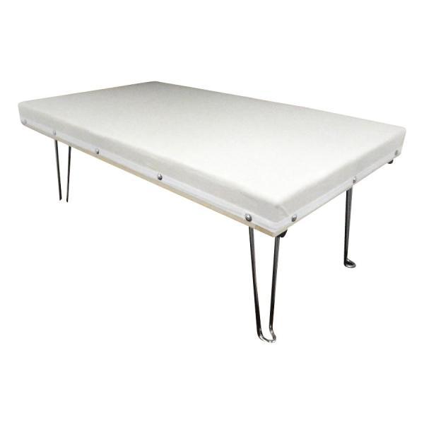 日本製 折りたたみ脚付きアイロン台 DXスチーム中アイロン台 67×40×26cm 15209 おしゃれ テーブル メッシュ網 アイロンがけ 折り畳み