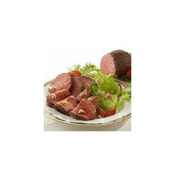 北海道産牛ローストビーフ 200g ×2パック レア 朝食 ハム ソース付 もも肉 牛肉 ディナー ギフト