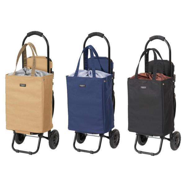 ブレイク トート型チェア付ショッピングカート No.1161 スチール ポリエステル 畳める 買い物 椅子付 カートに掛けられる 22L 保冷