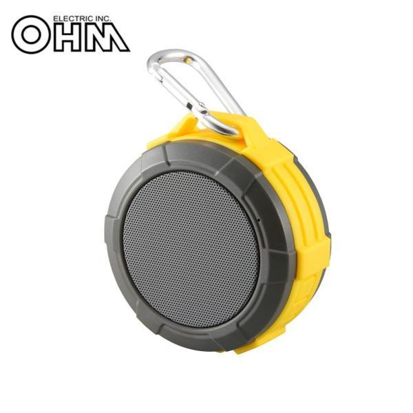 OHM AudioComm Bluetooth ワイヤレスアウトドアスピーカー イエロー ASP-W170N-Y