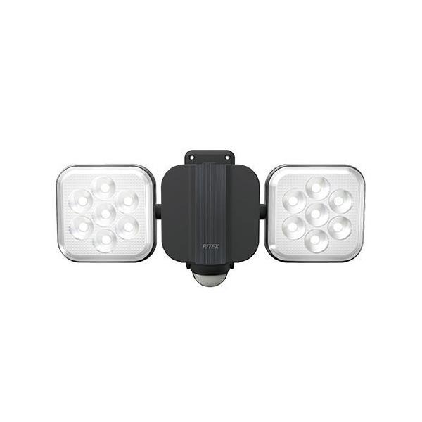 ライテックス LED-AC2022 11W×2灯 フリーアーム式 LEDセンサーライト 電源式 明るさ2000ルーメン 照明 RITEX