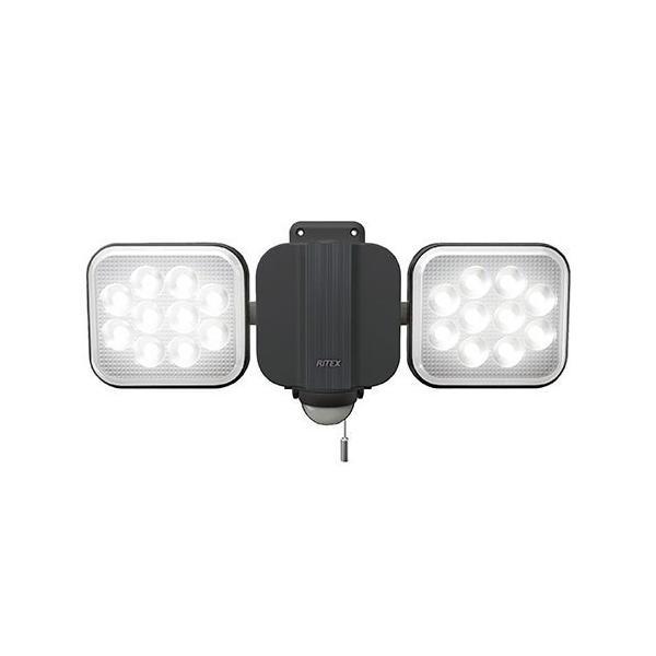 ライテックス LED-AC2028 14W×2灯 フリーアーム式 LEDセンサーライト 電源式 明るさ3000ルーメン 照明 RITEX 投光器