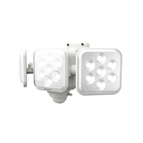 ライテックス LED-320 センサーライト 乾電池式 LED5W×3灯 フリーアーム式 明るさ1350ルーメン