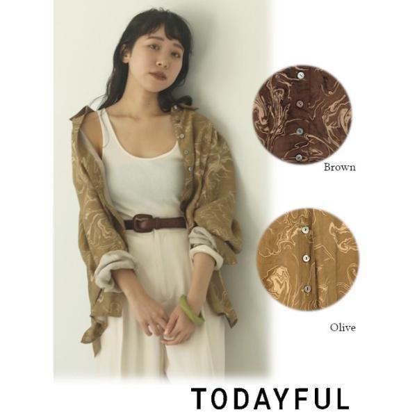 TODAYFUL  トゥデイフル Vintage Marble Shirts  20春夏 12010416 シャツ・ブラウス ヴィンテージマーブルシャツ