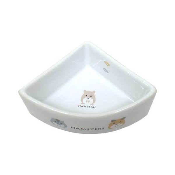 ハムちゃんのコーナー食器/エサ入れ 餌入れ 陶器 ご飯入れ フード 小動物 ハムスター ジャンガリアン MARUKAN