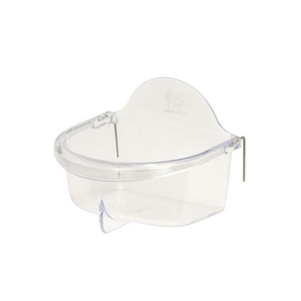 深型バード食器 M/エサ入れ 餌入れ 透明 フードフィーダー 小鳥 セキセイ オカメインコ 文鳥 サンコー SANKO 三晃商会
