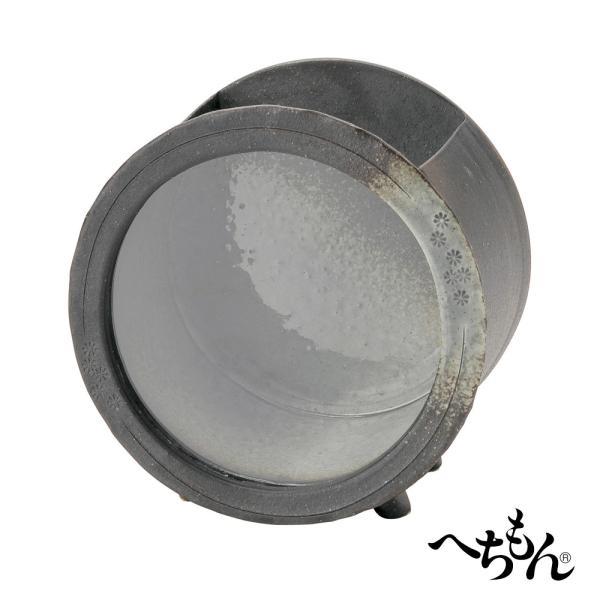 【送料無料】【信楽焼】へちもん 陶製金魚箱・丸型<エアポンプセット・陶ころ付>