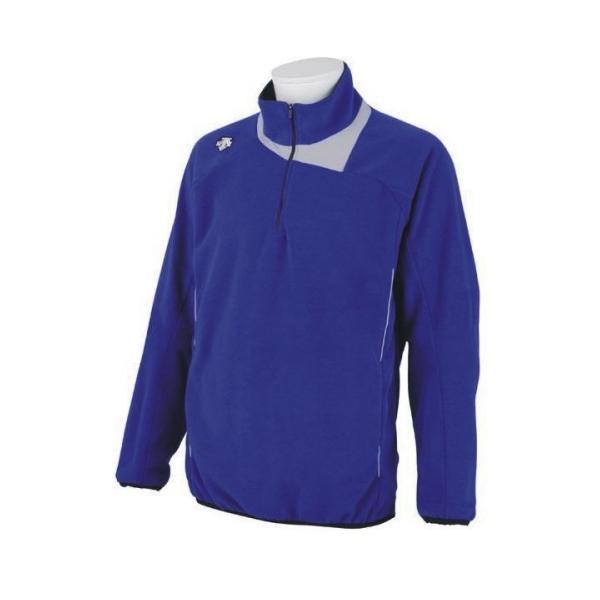 デサント 野球 フリースジャケット DBX-2460B DROY Dロイヤルブルー×シルバー