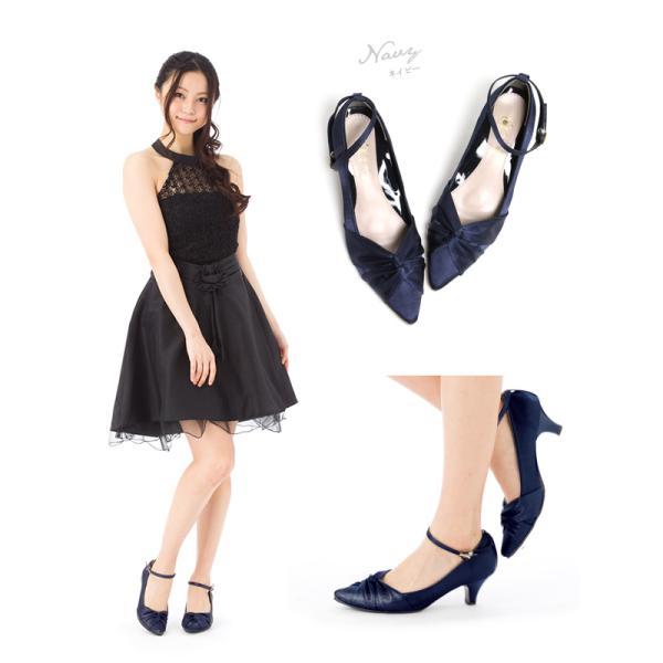 結婚式 靴 レディース パンプス ローヒール ゴールド 痛くない ローヒール フォーマル パーティー 入学式|hedgehog|17