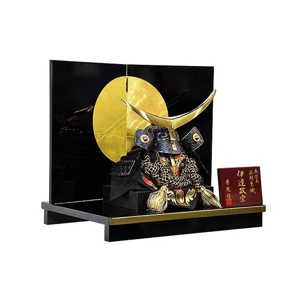 【五月人形】【コンパクトサイズ】兜飾り 伊達政宗型兜 / 「弦月」が金色に輝く人気の兜飾り 人形の平安大新 hm12012|heiandaishin|02
