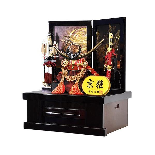 五月人形 上杉謙信 兜 コンパクト 収納飾り 朱赤塗り兜 人形の平安大新 hm12052|heiandaishin|02