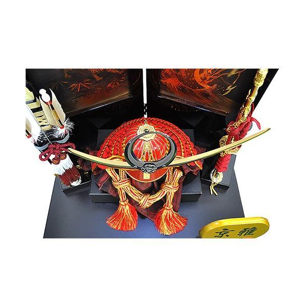 五月人形 上杉謙信 兜 コンパクト 収納飾り 朱赤塗り兜 人形の平安大新 hm12052|heiandaishin|06