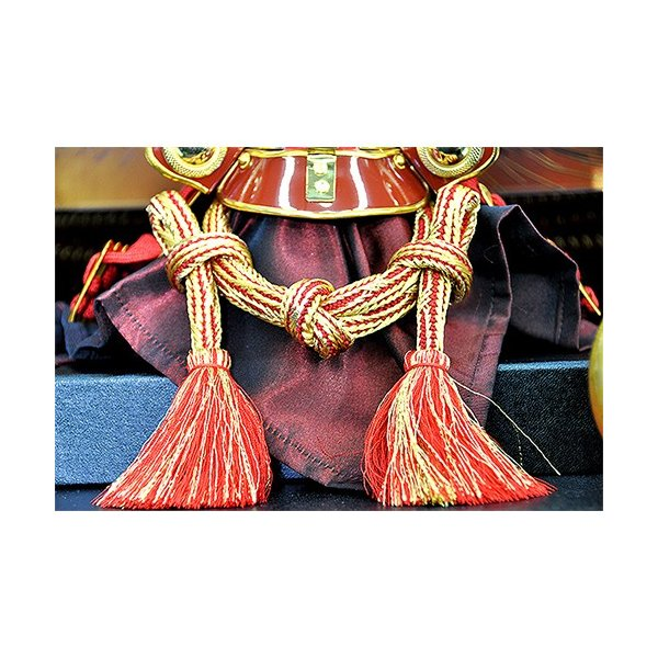 五月人形 上杉謙信 兜 コンパクト 収納飾り 朱赤塗り兜 人形の平安大新 hm12052|heiandaishin|08