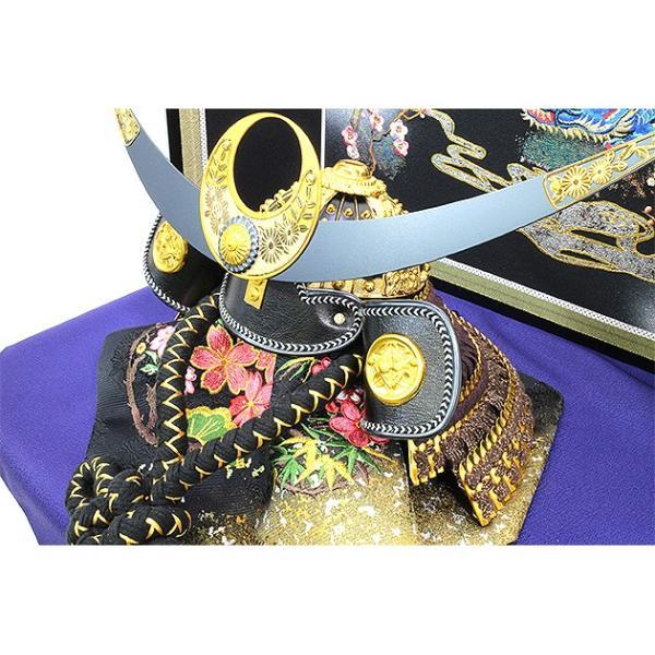 五月人形 上杉謙信 兜 コンパクト 収納飾り 兜飾り 吉右衛門作 2019年 新作 お名前袱紗付き 人形の平安大新 hm12065|heiandaishin|06