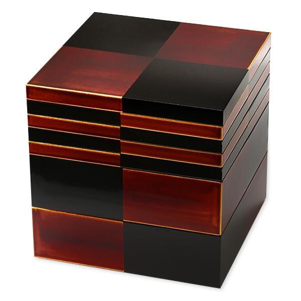 二段重 白檀(取り皿4枚付) お重箱/漆塗り/二段/6寸|heiando|04