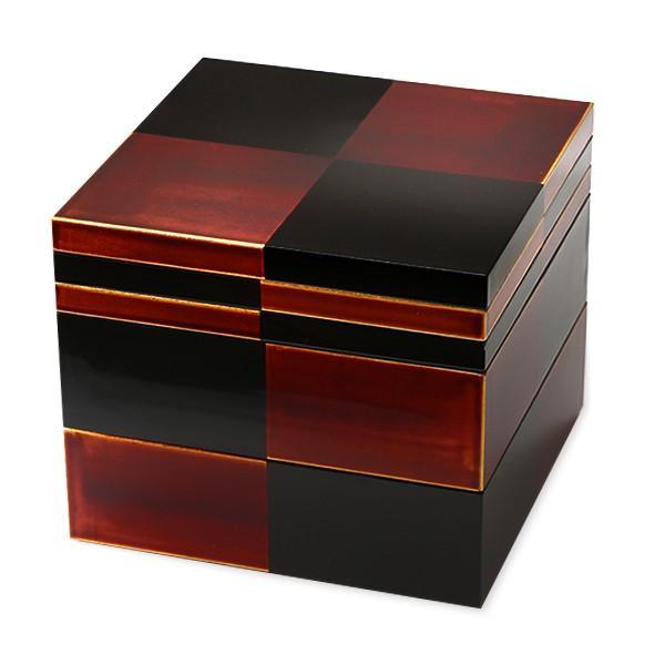 二段重 白檀(取り皿2枚付) お重箱/漆塗り/二段/6寸|heiando|04
