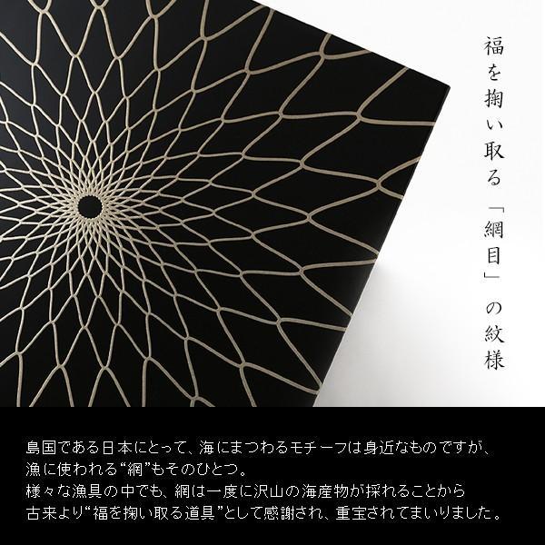 漆器 山田平安堂 三段重 網目 お重箱/漆塗り/三段|heiando|04