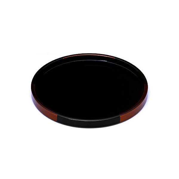 丸盆 白檀(小) お盆/木製/漆器/黒 heiando