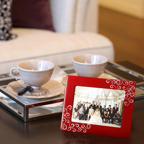 写真立 プラチナハート フォトスタンド フォトフレーム 結婚祝い ブライダル プレゼント|heiando|02