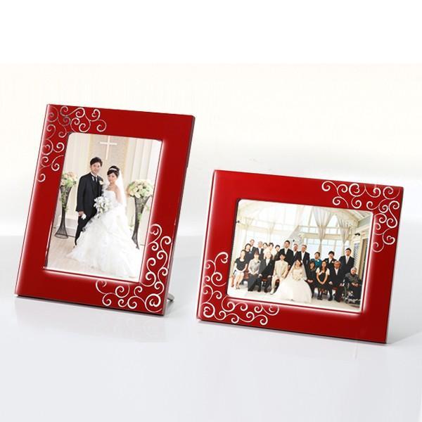 写真立 プラチナハート フォトスタンド フォトフレーム 結婚祝い ブライダル プレゼント|heiando|03