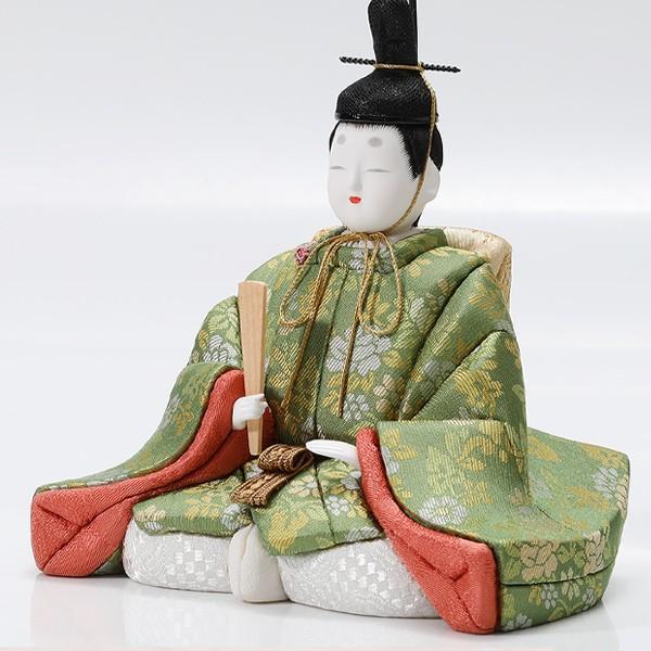 雛人形 コンパクト 江戸木目込み 雛人形と扇面雛舞台 吉徳大光|heiando|02