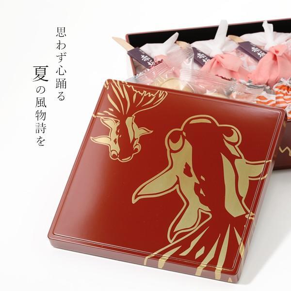 お中元ギフト 詰め合わせ 和菓子 【夏季限定】一ヶ重 金魚(老舗和菓子付き)|heiando|03