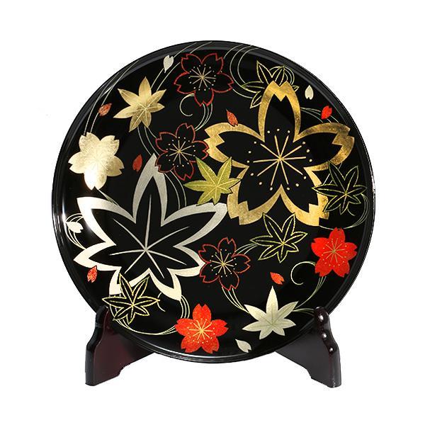 漆器 山田平安堂 飾皿 描詰春秋 法人ギフトに/インテリア/飾り皿|heiando