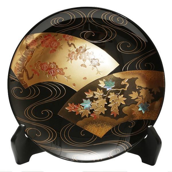 飾皿扇面流水