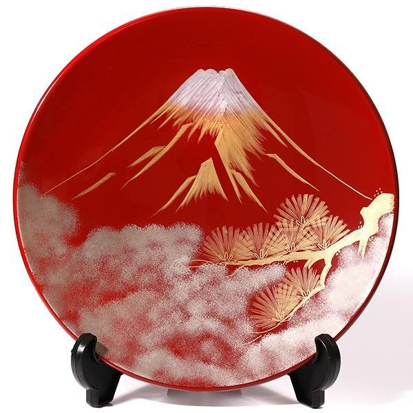 飾皿 富士に松