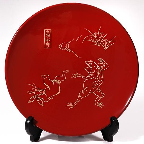 飾皿 富士に松/鳥獣戯画 法人ギフトに/漆器/インテリア/飾り皿|heiando|02