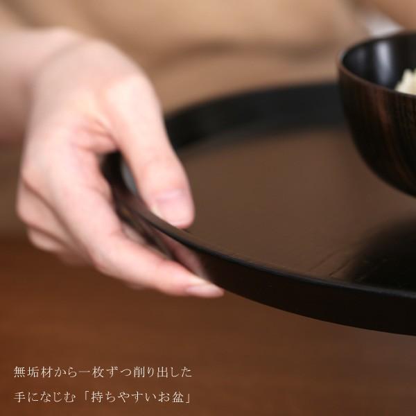 丸盆 神代すり(尺) お盆/木製/漆塗り|heiando|04