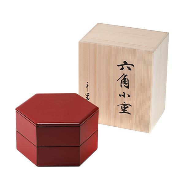 六角二段小重 朱塗 重箱/漆器|heiando