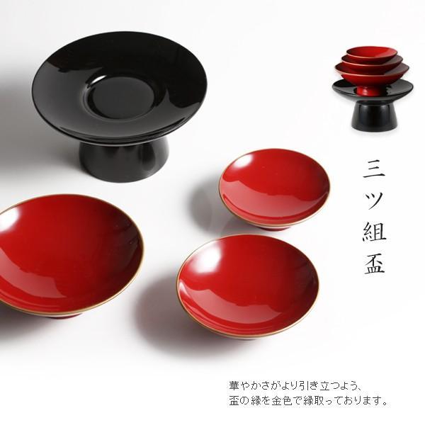 屠蘇器セット(銚子 吉々丸+三ツ組盃+長角盆 隅金) |heiando|04