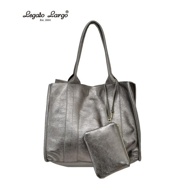 Legato Largo(レガートラルゴ) lue0751 ポーチ付きBIGトートバッグ 全3色