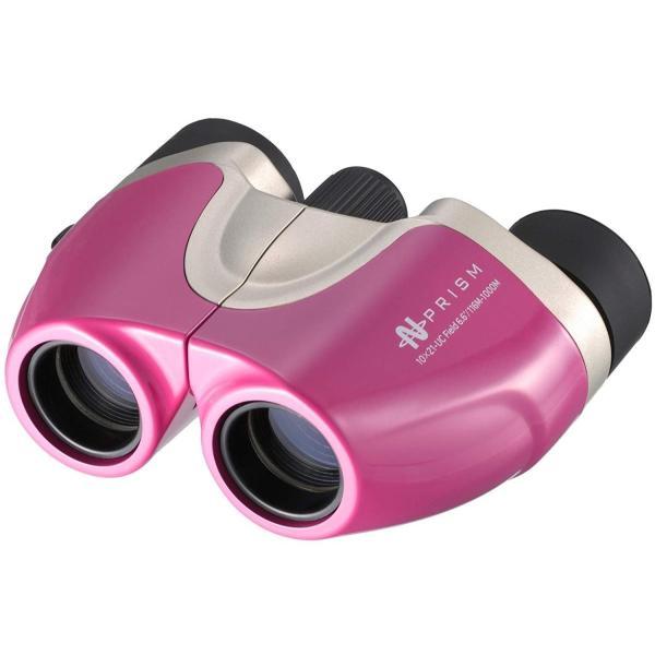 NASHICA 双眼鏡 PRISM 10×21-UC ポロプリズム式 10倍 21口径 ピンク 502193