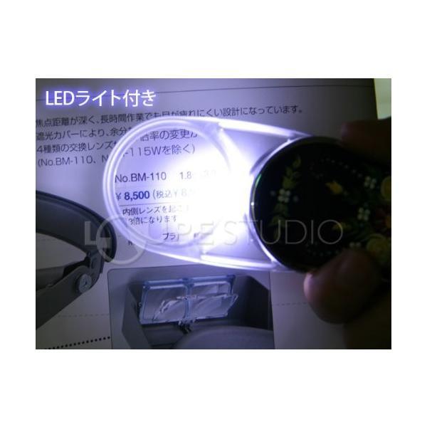 LEDライト付き スイングルーペ スワロフスキー 3.5倍 35mm ポケットルーペ スライドルーペこのページは「二匹のフクロウ(黒/黄)」