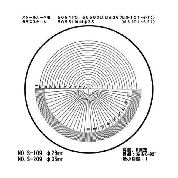 φ35 角度 R測定 交換用スケール S-209 10倍スケール 5055/SCLI-10用