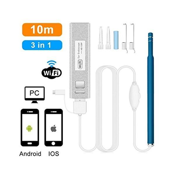 ニコマク NikoMaku 耳かき カメラ iphone対応 改良バージョン 日本語説明書付き iPhone/Android/Windows