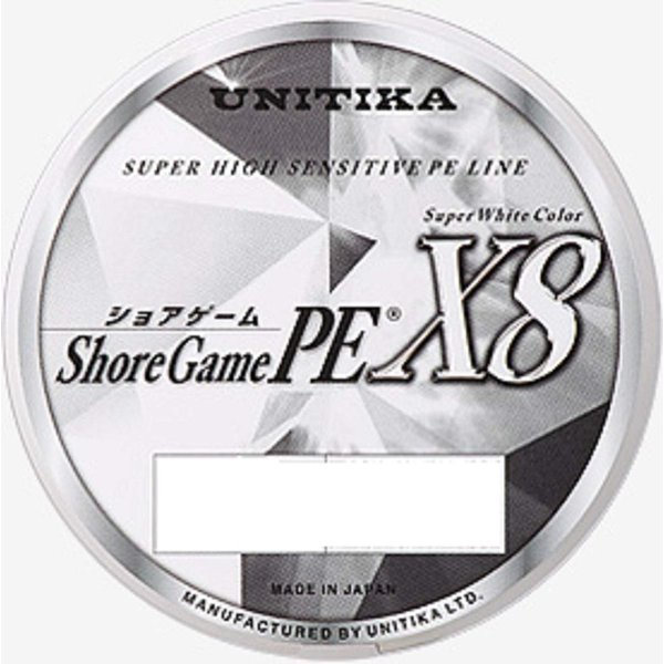 ユニチカ(UNITIKA) PEライン ショアゲームPE X8 200m 1.2号 25kg スーパーホワイト 6224