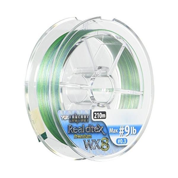 よつあみ(YGK) PEライン ロンフォート リアルデシテックス WX8 210m 0.3号 9lb 8本 3色