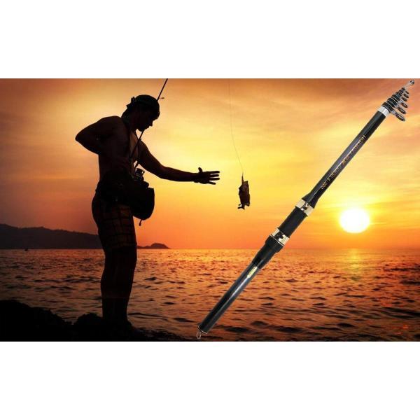 サンライク(SANLIKE) 釣り竿 海釣り 釣りセット カーボン釣竿 炭素伸縮釣竿 スピニングロッド フィッシングロッド コンパクトロッド