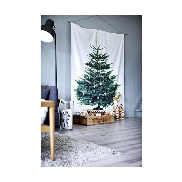 イケア クリスマス ツリー タペストリー もみの木 壁面 大型 パネル 特大|hello-2017