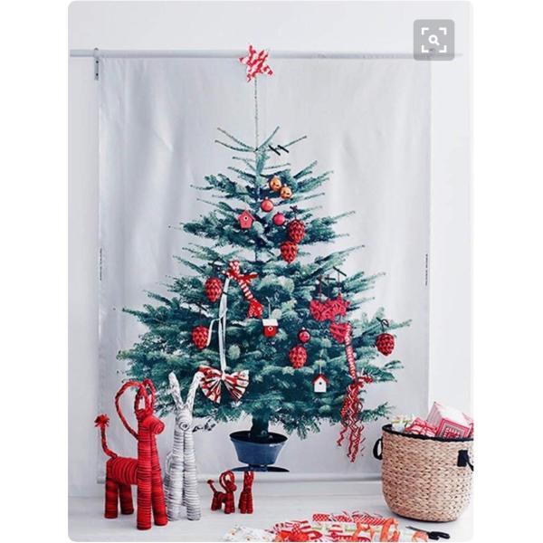 イケア クリスマス ツリー タペストリー もみの木 壁面 大型 パネル 特大|hello-2017|06