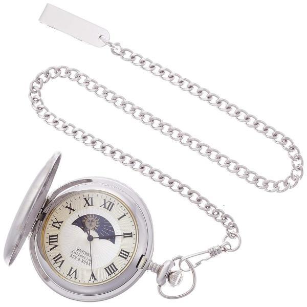 モントレスコレクションMontres Collection 懐中時計 サン アンド ムーン ポケットウォッチ シルバー ローマ数字 MC-9
