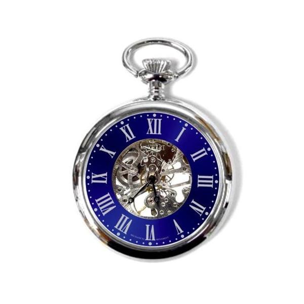 ウインズWINS 懐中時計 シルバー×ブルー 322-LK516PU 正規輸入品